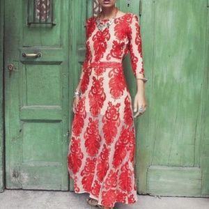 Red Mesh Dress || For Love & Lemons